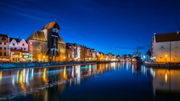 Gdańsk nocą - plakat premium