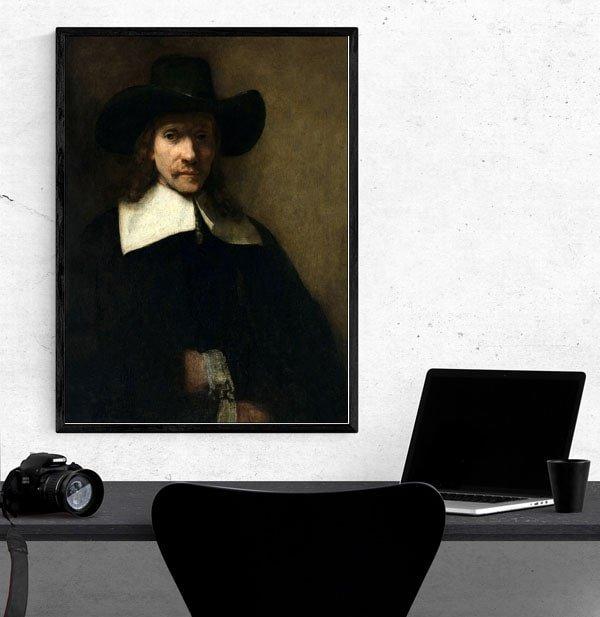 Portrait of a Man, Rembrandt - plakat