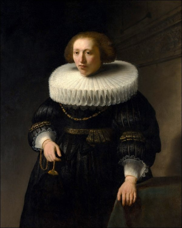 Portrait of a Woman, probably a Member of the Van Beresteyn Family, Rembrandt - plakat