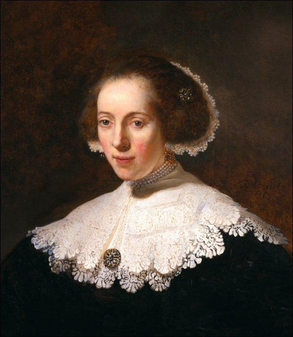 Portrait of a woman, Rembrandt - plakat