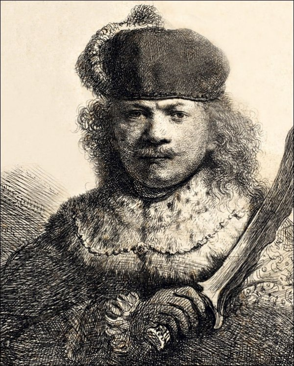 Rembrandt with Raised Sabre, Rembrandt - plakat
