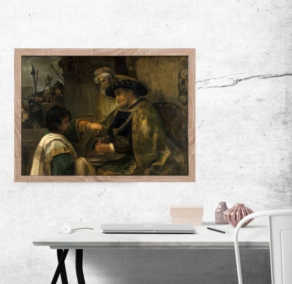 Pilate Washing His Hands, Rembrandt - plakat