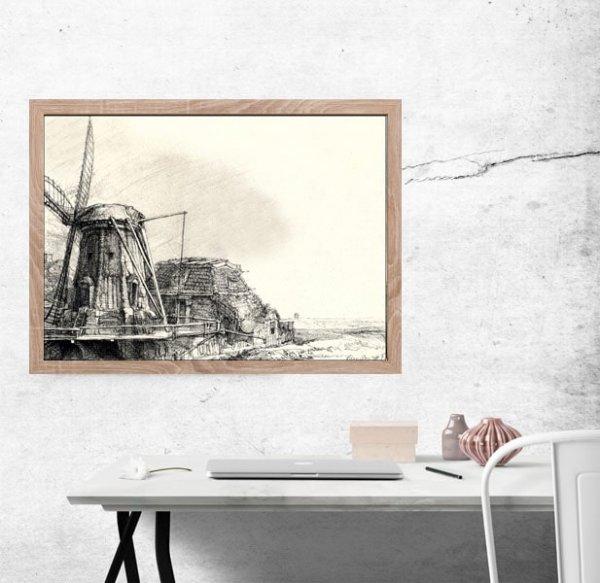 The Windmill, Rembrandt - plakat