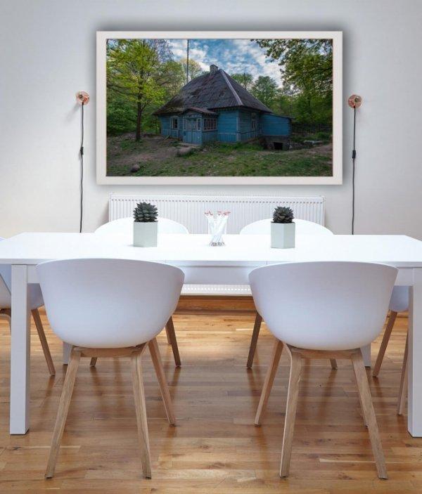 Niebieski domek - plakat premium