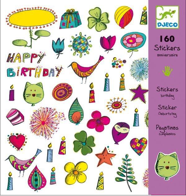 Happy Birthday 160 naklejek