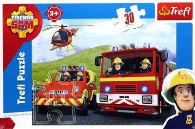 PUZZLE Strażak Sam rusza do akcji 30el Fireman Sam 18213 Trefl
