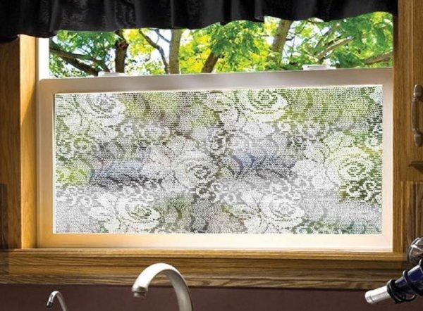Statyczna folia okienna 90x150 jak firanka witraż