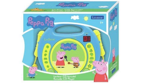 Przenośny odtwarzacz CD Świnka Peppa PIG Karaoke Mikrofon