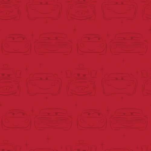 Tapeta Cars Auta, czerwona
