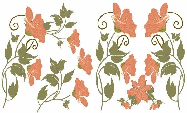Statyczne naklejki na okno Kwiaty