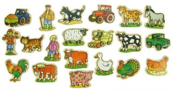 Magnesy na lodówkę Gospodarstwo - Farma