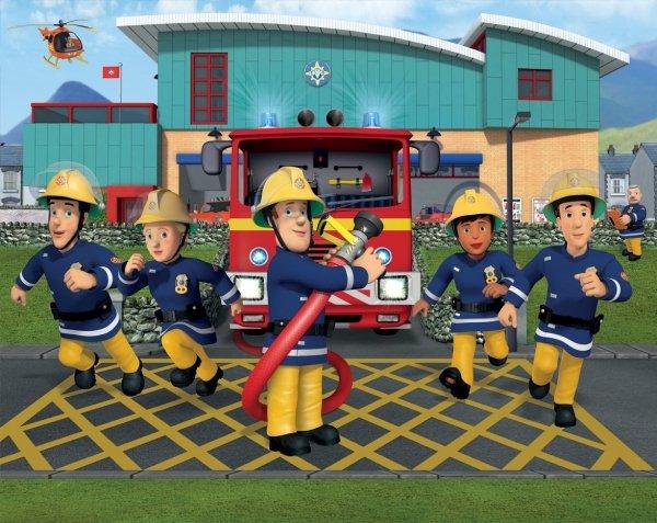 Tapeta Strażak Sam Fireman Sam