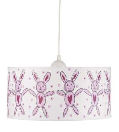 Lampa Króliczki pink
