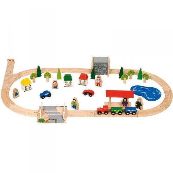 Zestaw pociąg na wsi