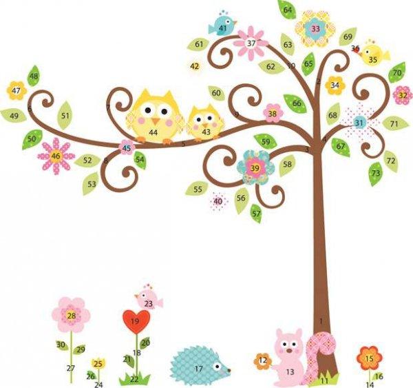 Naklejki Kolorowe Drzewko
