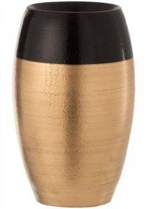 Ceramiczny wazon złoty czarne obrzeże 31 cm