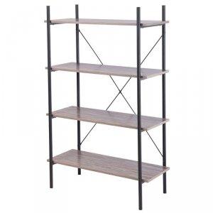 Regał metalowy na 4 półki Loft 130 cm
