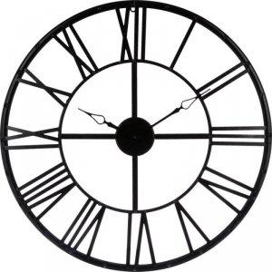 Zegar ścienny vintage czarny 70 cm