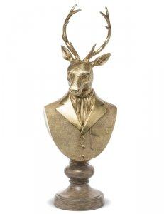 Piękna stylowa figurka popiersie jelenia