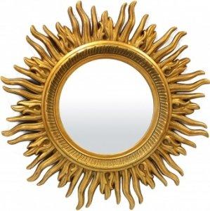 Duże lustro słońce - złote