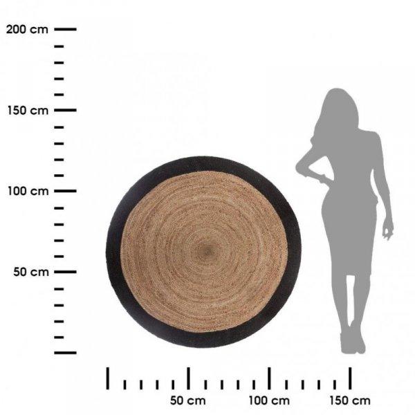 Okrągły dywan z juty wzór 4