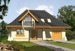 Projekt domu ALABASTER z garażem 1-stanowiskowym