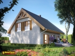 Projekt domu pasywnego LIGHT - Dom Aleksandra (wersja lustrzanego odbicia)
