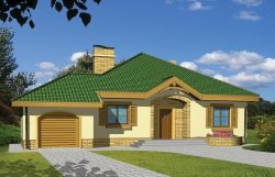 Projekt domu Groszek z garażem