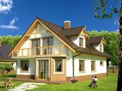 Projekt domu na wąską działkę Kasztanowa Aleja