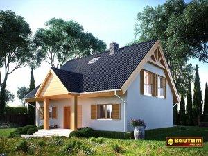 Projekt domu pasywnego LIGHT - Dom Aleksandra (wersja lustrzana)