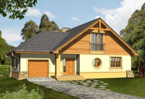 Projekt domu BABILON z garażem 1-stanowikowym
