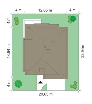Projekt domu Kasjopea III pow.netto 183,89 m2