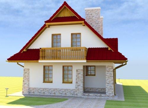Projekt domu na wąską działkę Górska Polana