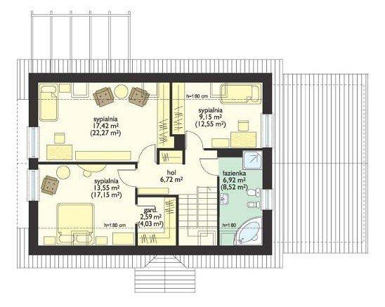 Projekt domu Leśny Zakątek II pow.netto 152,59 m2