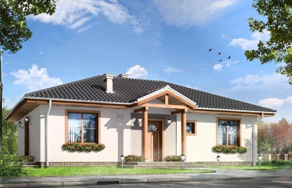 Projekt domu Kropka pow.netto 84,03 m2