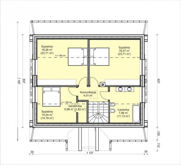 Projekt domu prefabrykowanego - Dom Aleksandra (wersja podstawowa)