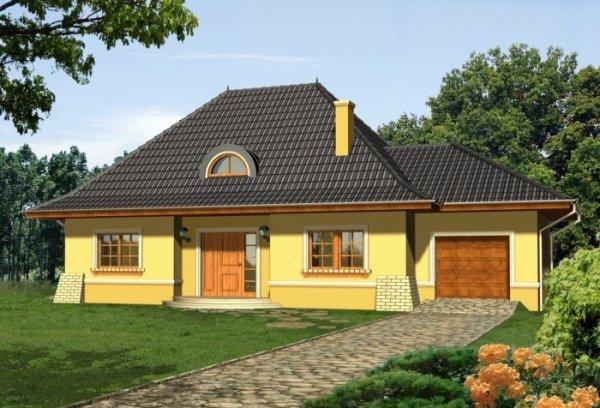 Projekt domu AMARETTO z garażem 1-stanowiskowym