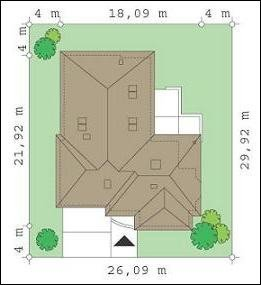 Projekt domu Komfortowy II pow.netto 236,29 m2