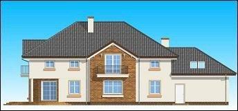 Projekt domu Okazały pow.netto 281,7 m2