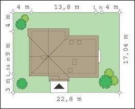 Projekt domu Wesoły pow.netto 163,17 m2