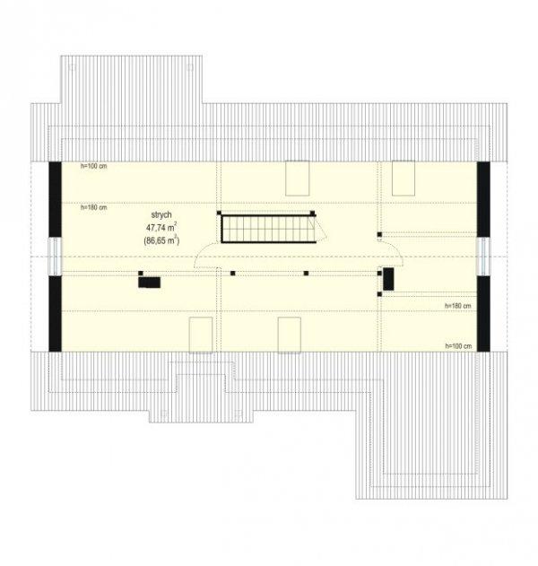 Projekt domu Luna pow.netto 97.2 m2