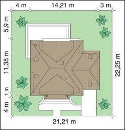 Projekt domu Dom na medal II pow.netto 175,3 m2