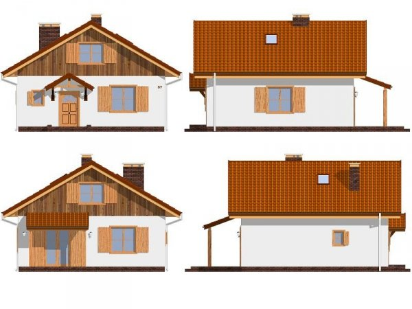 Projekt domu Pchełka pow.netto 88,54 m2