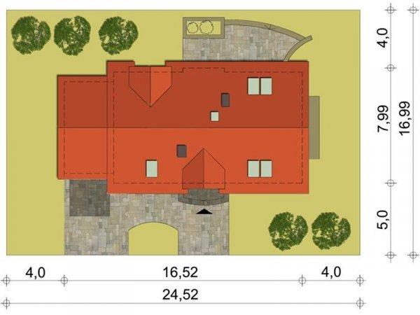 Projekt domu Dubrovnik A