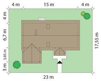 Projekt domu Szczygieł pow.netto 122,4 m2