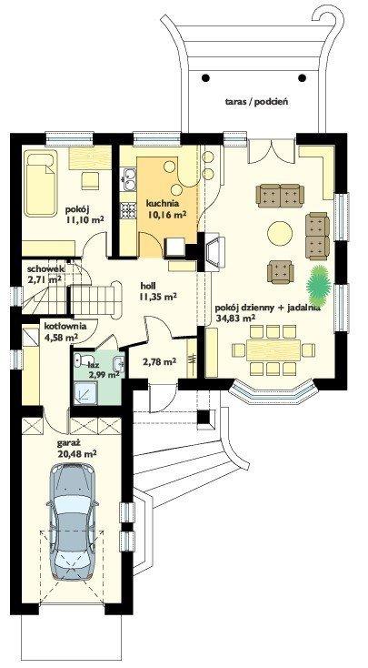 Projekt domu Pogodny IV pow.netto 165,97 m2