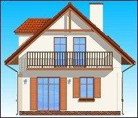 Projekt domu Pierwszy dom pow.netto 93,6 m2