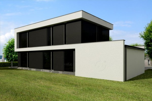 Projekt domu nowoczesnego PS-GS-70-20G pow. 164,09 m2