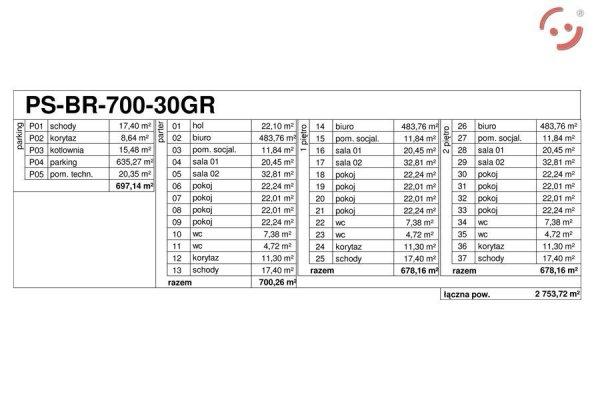 Projekt biurowca PS-BR-700-30GR