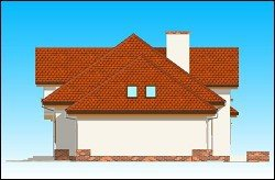 Projekt domu Pod dębem pow.netto 209,12 m2